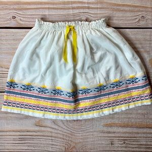 Zara white skirt with decorative border size 7/8